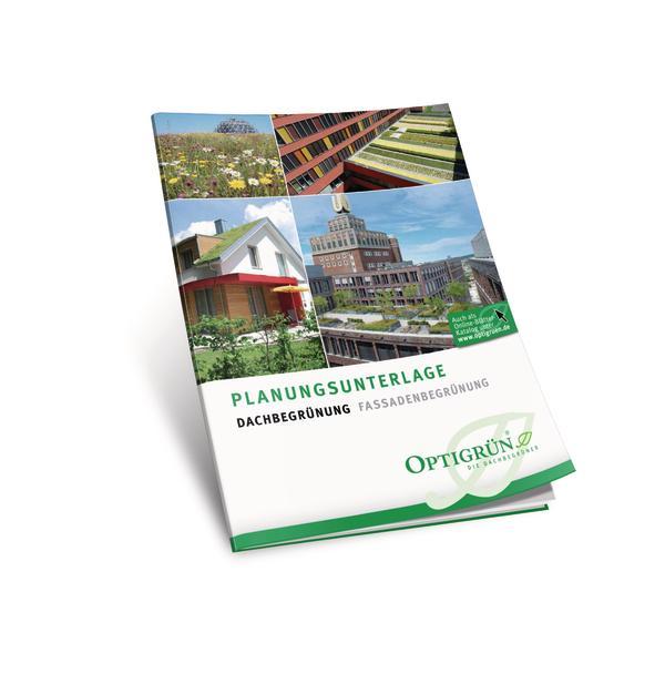 Die Planungsunterlage zu Dach- und Fassadenbegrünung von Optigrün.