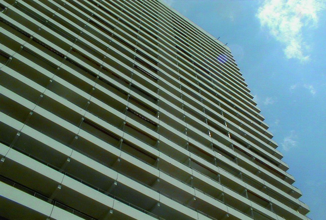 Die Renovierung umfasste 10000 m² Balkonoberfläche sowie 25000 m² Fassade.