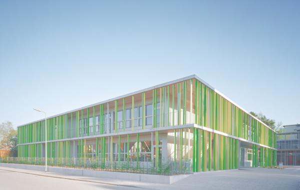 neubau einer grundschule mit sporthalle in karlsruhe vexierbild mit struktur. Black Bedroom Furniture Sets. Home Design Ideas