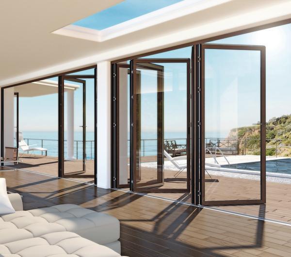 Trend zu großen Glasflächen.