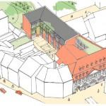 Perspektive: Sanierung und Erweiterung des Instituts für Archäologie, Denkmalkunde und Kunstgeschichte an der Otto-Friedrich-Universität in Bamberg.