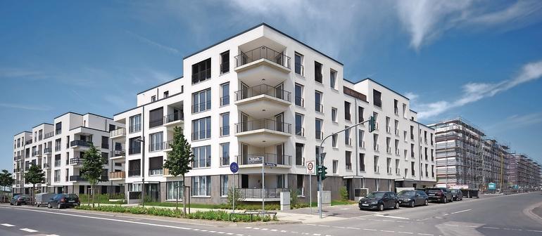 Wohnquartier mit großzügigen Eckbalkonen. Bilder: Sika Deutschland GmbH