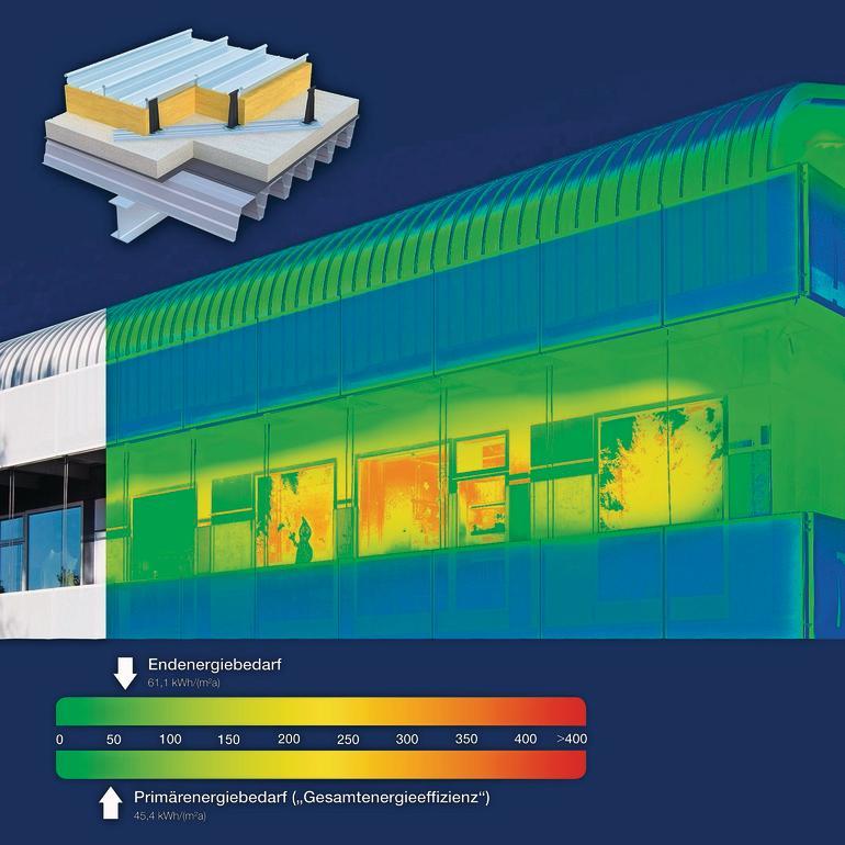 Aluminium-Stehfalz-System DuoPlus E von Kalzip für nahezu wärmebrückenfreies Metalldach