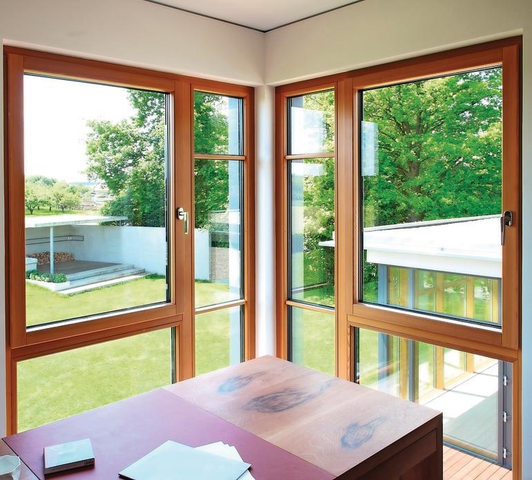 Aluminium-Holz-Fenster. Bild: Kneer-Südfenster
