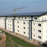 Monolithisch erbautes Passivhaus mit 62 Apartments. Bilder: Puren