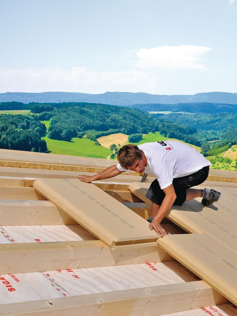 Hagelsichere Dachdämmung mit Holzfaserplatten