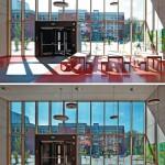 Elektrochromes Glas als Sonnenschutz.