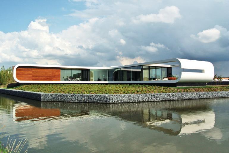 Glasfassade für Wohnhaus in Westland (NL): Kurven ohne Kanten
