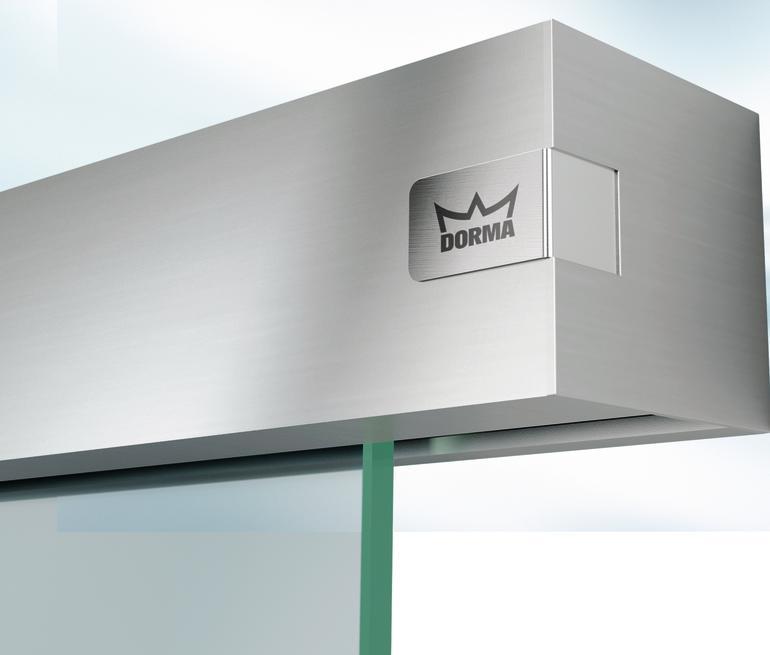 Schiebetürsystem: Kompakte Technik elegant verborgen. Bild: Dorma