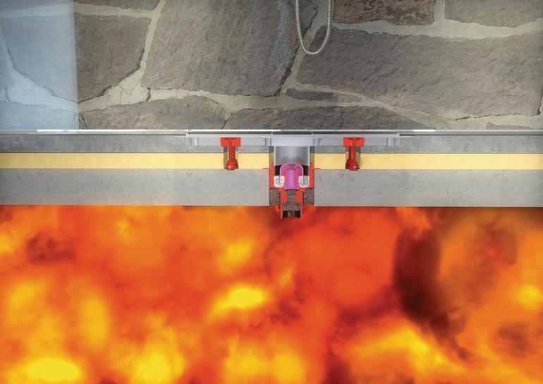 Brandschutz in der Entwässerung. Ablauf schützt vor Brandausbreitung
