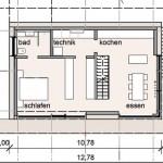 Grundriss Gartengeschoss. Zeichnungen: Architekten