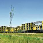 Südlich von Winnenden ist das Klinikzentrum in Wiesen und Weinberge eingebettet. Bild: Svenja Bockhop, Berlin