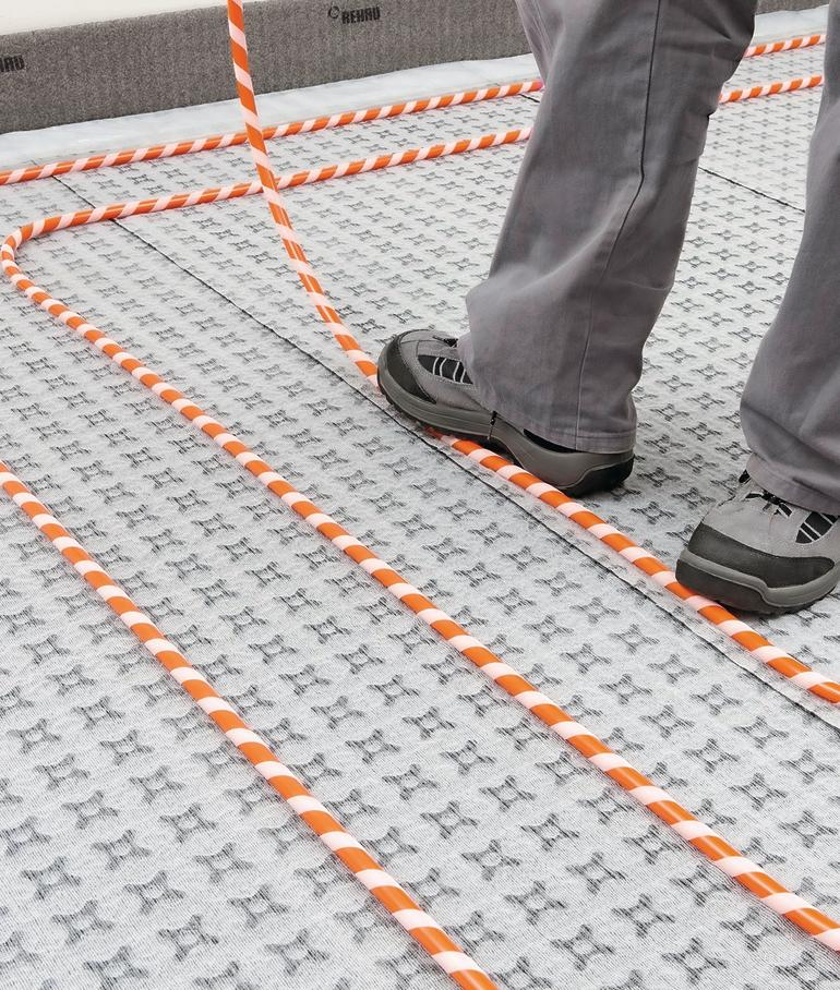 3 mm-Systemmatte für Flächenheizungen