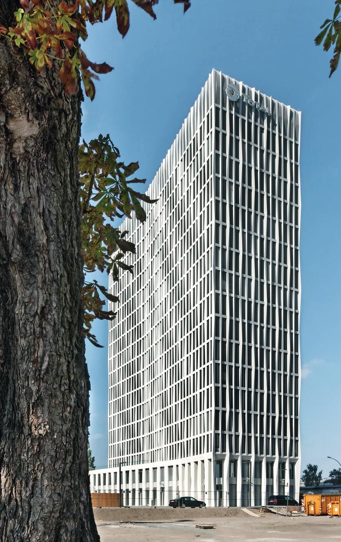 Fassadengestaltung miit Betonfertigteilen - ohne Ansichtsüberraschungen.