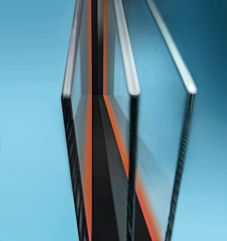 Optimiertes Randverbundsystem mit verbessertem Wärmeschutz für schlanke Fensterrahmen. Bild: Glas Trösch