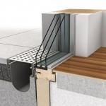 Fensterbänke und Terrassenböden können sauber und dicht angeschlossen werden.