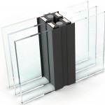 Schlanke Glasstöße ermöglichen einen unauffälligen Übergang zwischen Glasflächen.