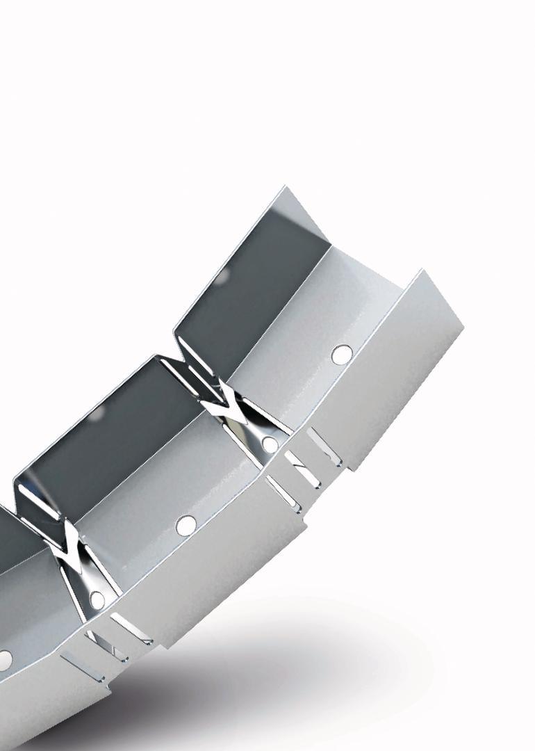 Gebogenes, segmentiertes Metallteil. Bild: Richter System
