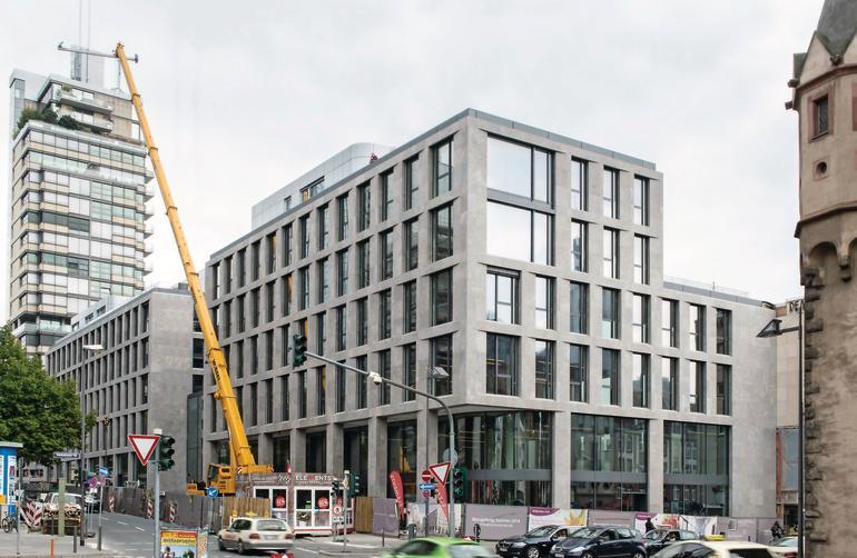 Unmittelbar neben dem Eschenheimer Turm - der sechsgeschossige Neubau des Turmcarrées. Bild: Fermacell GmbH