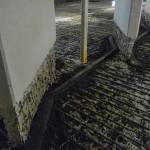 Die vielen Jahre der Dauernutzung hinterließen ihre Spuren: Chloridbelastete Fundamente und angegriffener Beton.