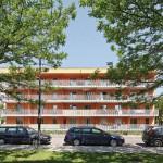 Großzügig dimensionierte, barrierefrei zugängliche Balkone sind ein prägendes Merkmal der Wohnanlage.