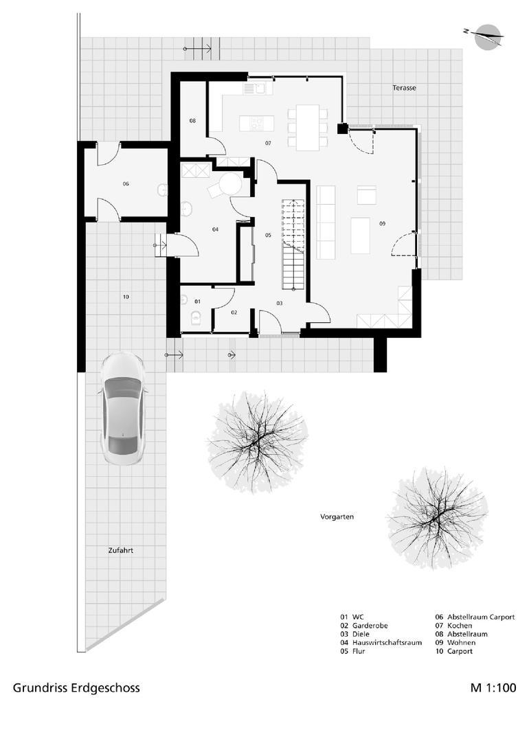 neubau eines einfamilienhauses im m nsterland wand als. Black Bedroom Furniture Sets. Home Design Ideas