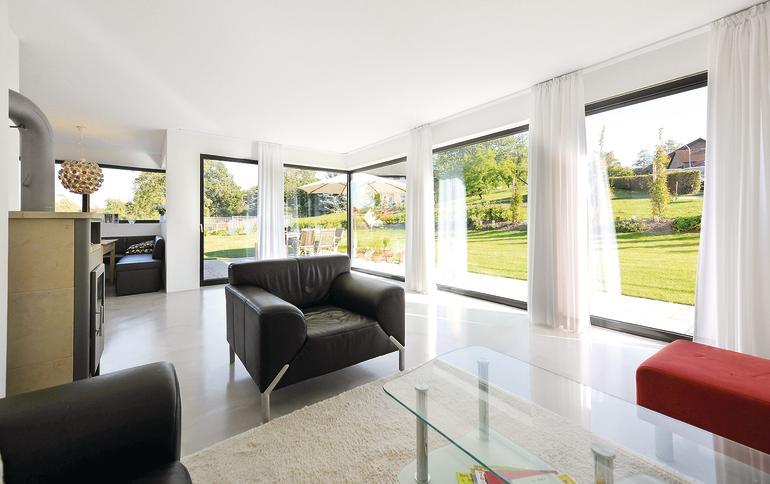 Neubau eines einfamilienhauses im m nsterland wand als - Dreifach verglaste fenster ...