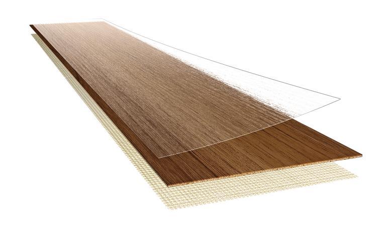 Mehrlagige Bodendiele mit durchsichtiger Schutzschicht für die Oberfläche. Bild: Armstrong DLW GmbH