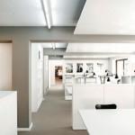 Open Space: Durch die weiße Farbgestaltung und die Freilegung der Beton-Tragstruktur entstanden helle loftähnliche Büroräume.