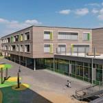 Die Konstruktion in Holztafelbauweise entspricht der Hamburger Bauordnung - dank der zementgebundenen Platten ohne brennbare Bestandteile.