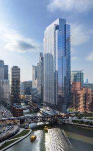 150 North Riverside, Chicago, USA. Architekten: Goettsch Partners. Bild: Tom Rossiter