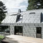 Alupaneele - gänzlich metallisch vom Sockel bis zum Dach. Bilder: Prefa GmbH