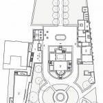 Grundriss EG: 1. Foyer | Museumsshop 2. Sonderausstellung 3. Dauerausstellung 4. Verwaltung 5. Cafe. Zeichnung: Staab Architekten