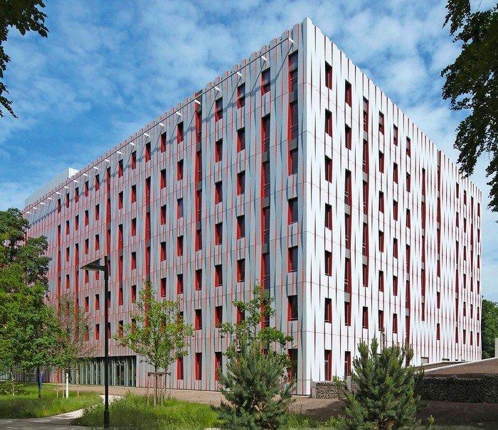 Außenansicht des House of Logistics & Mobility in Frankfurt am Main. Bilder: House of Logistics & Mobility (HOLM) GmbH