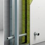 Doppelständer-Wandkonstruktionen bieten hohen Schallschutz bei guter Anpassungsfähigkeit an bauliche Gegebenheiten. Dabei sind die Trockenbauplatten entkoppelt einzubauen. Bild: Fermacell