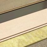 Dünnschichtiger Trockenestrich mit Parkettbelag und zweifachem Trittschallschutz mit Mineralwolle unter der Gipsfaserplatte sowie einer speziellen Dämmmatte unter dem Parkett. Bild: Knauf