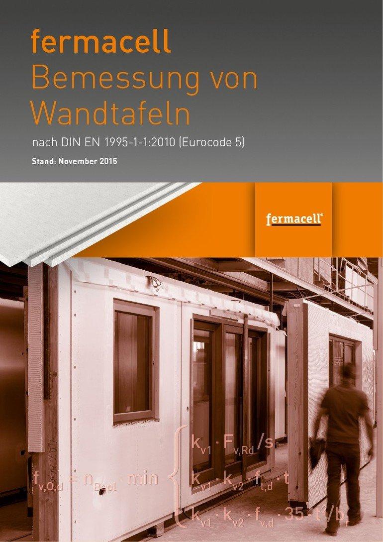 fermacell-Broschüre zur Bemessung von Wandtafeln.