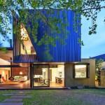 Titanzink-Scharen für ungebrochene Flächen. Bilder: Nicholas Murray Architects