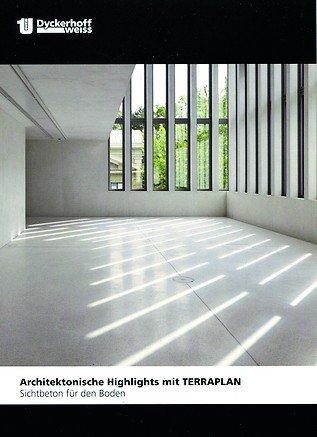 Katalog mit architektonischen Highlights im Bereich Sichtbetonböden. Bild: Dyckerhoff