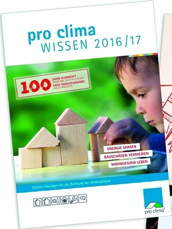 "pro clima-Borschüre ""Wissen"" 2016/17. Bild: Moll pro clima 2016"