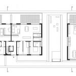 Grundrisse Erdgeschoss der Wohnhäuser BF 30. Zeichnung:Bottega + Ehrhardt Architekten