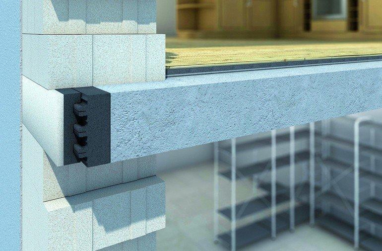 Porenbeton-Dämmschalung: Mauerwerk ohne Wärmebrücken. Bild: Porit