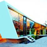Sonnenschutzgläser in einer Kunst- und Architekturschule.