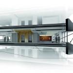 Die Fassade mit Titanzink-Bändern schützt die Innenräume vor zu starker Sonneneinstrahlung und lässt im Norden blendfreies Tageslicht herein. Bild:Rheinzink