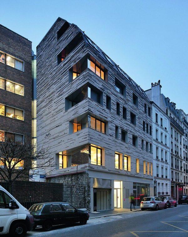 Villa des Sciences mit Büros, Wohnungen und Läden, Grundfläche: 1319 m², Budget: 3,2 Millionen Euro. Bilder: Fotograf Vincent Fillon
