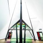 Um das Foucaultsche Pendel von Vibrationen zu entkoppeln, wurde eine Sekundärkonstruktion im Innenraum errichtet. Bild: Knauf Aquapanel / E. Reinsch