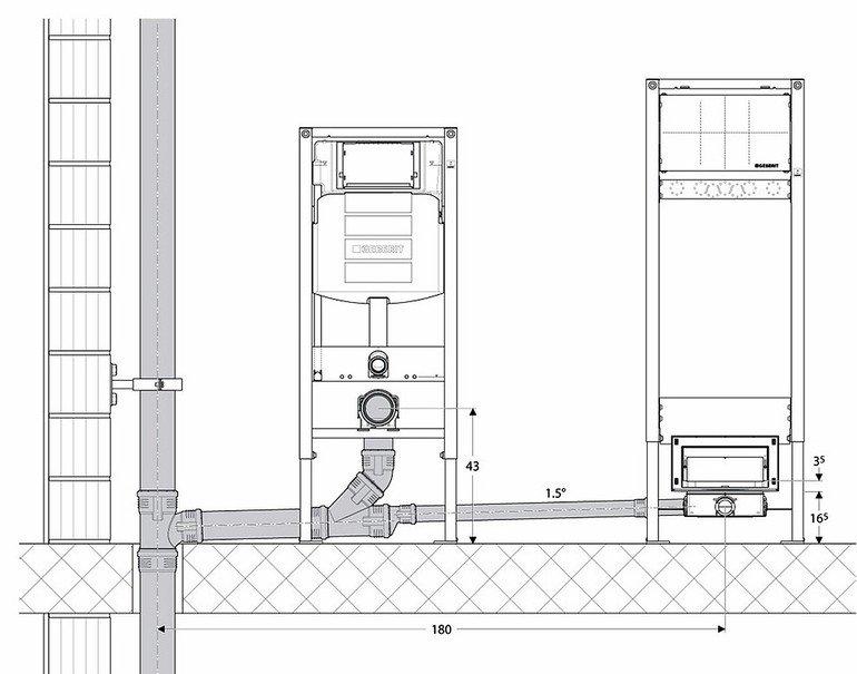 Schallerprobte Komponenten für sanitärtechnische Anlagen. Alle Bilder: Geberit