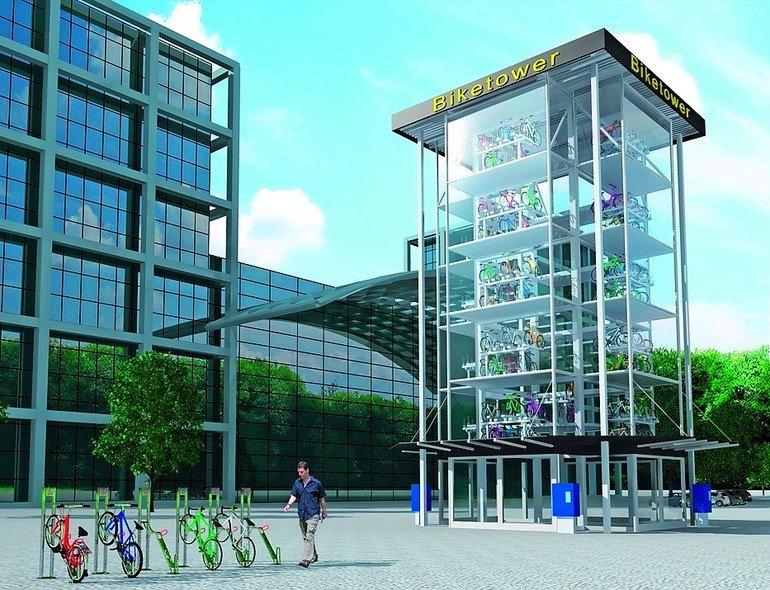 Vollautomatisches Fahrradparkhaus