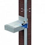 Dach-, Balkon- und Terrassenentwässerung über ein Fallrohr. Bild: Grumbach