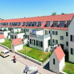 Bei der Sanierung einer 1920er-Jahre-Siedlung in Frankfurt kam auf den alten Holzbalkendecken u.a. ein hochbelastbarer Gipsfaser-Trockenestrich zum Einsatz. Bilder: Fermacell